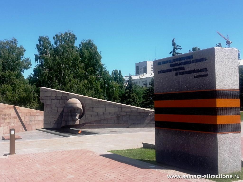 Вечный огонь на площади Славы