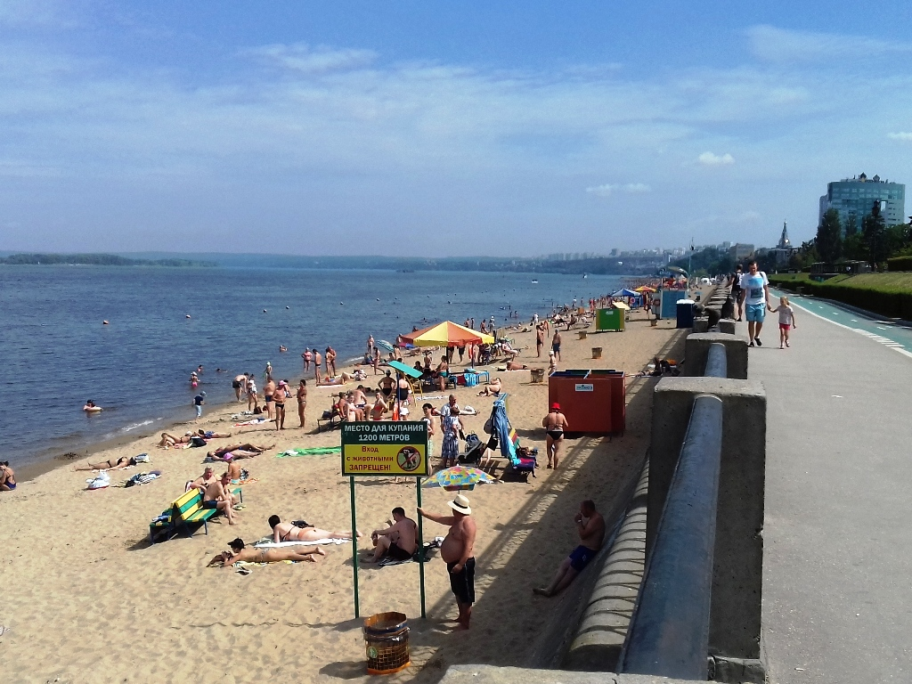 Пляж и набережная Самары