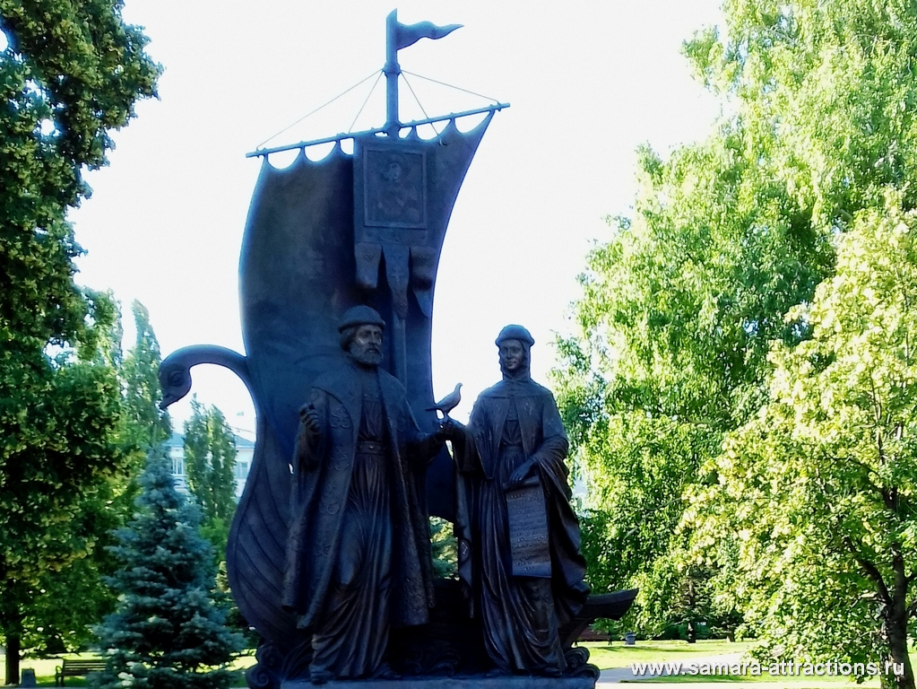 Памятник Петру и Февронии Муромским в Самаре